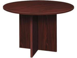 Basyx BLC48DNN BL Laminate Series Mahogany  Round Conference Table