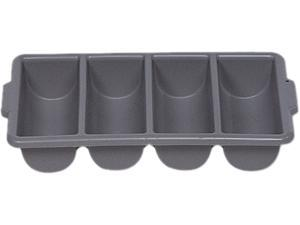 Rubbermaid Commercial RCP 3362 GRA Cutlery Bin, Four Compartments, Gray