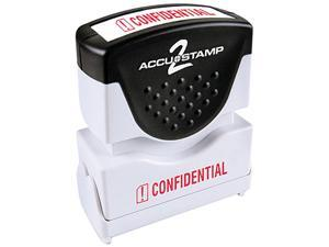 Accustamp2 035574 1 5/8 x 1/2 Red Confidential Accustamp2 Shutter Stamp with Microban