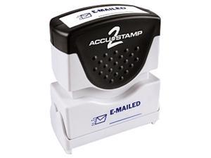 Accustamp2 035577 1 5/8 x 1/2 Blue Emailed Accustamp2 Shutter Stamp with Microban