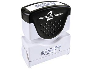 Accustamp2 035581 1 5/8 x 1/2 Blue Copy Accustamp2 Shutter Stamp with Microban