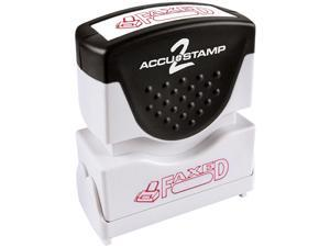 Accustamp2 035583 1 5/8 x 1/2 Red Faxed Accustamp2 Shutter Stamp with Microban
