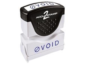 Accustamp2 035584 1 5/8 x 1/2 Blue Void Accustamp2 Shutter Stamp with Microban