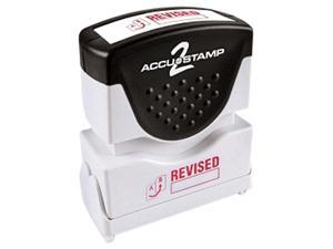Accustamp2 035587 1 5/8 x 1/2 Red Revised Accustamp2 Shutter Stamp with Microban