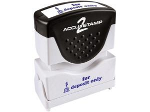 Accustamp2 035601 1 5/8 x 1/2 Blue for Deposit Only Accustamp2 Shutter Stamp with Microban