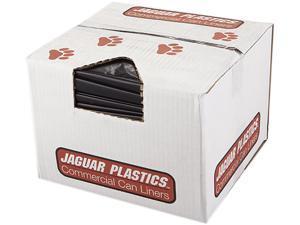 Jaguar Plastics JAG R3858HH 38w x 58h, Black Repro Low-Density Can Liners
