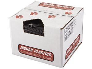 Jaguar Plastics JAG R4347HH 43w x 47h, Black Repro Low-Density Can Liners