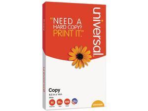 Universal UNV24200 Copy Paper, 92 Brightness, 20lb, 8-1/2 x 14, White, 5000 Sheets/Carton