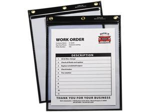 C-Line 50912 - Heavy-Duty Super Heavyweight Plus Shop Ticket Holders, Black, 12 x 9, 15/BX