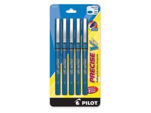Pilot 26021 Precise V7 Rollerball Pen, Fine Pen Point Type - 0.7 mm Pen Point Size - Blue Gel-based Ink - Blue - 5/Pack