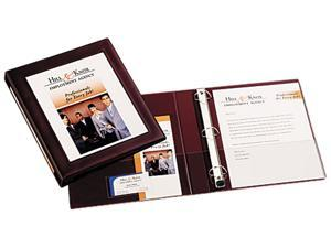 """Avery 68029 Framed View Binder With One Touch Locking EZD Rings, 1"""" Capacity, Maroon"""
