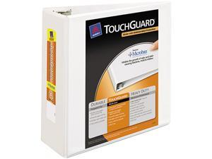 """Avery 17145 Antimicrobial View Binder w/One-Touch EZD Rings, 4"""" Capacity, White"""