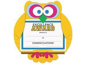 "Southworth MAK1 Motivations Owl ""Excellence"" Certificate Award Kit & Holder, 8.5 X 5.5, 10/pk"