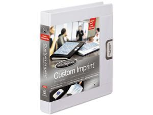 "Wilson Jones                             Custom Imprint Presentation Binder, 1"" Capacity, White"