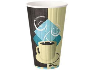 SOLO Cup Company IC16PK Duo Shield Insulated Paper Hot Cups, 16 oz., Tuscan Design, 5/Pack