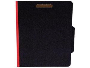 S J Paper                                Classifcation Folder, Two Dividers, Letter, Black/Red, 15/Box