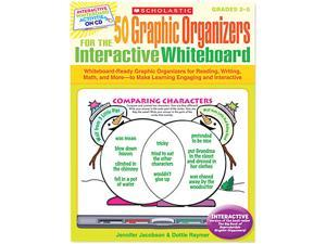 Scholastic 0545207150 Graphic Organizers for Interactive Whiteboard, Grades 2-5, 112 pgs, CD
