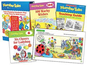 Scholastic 0545067731 Number Tales, 16 books/16 pages and Teaching Guide