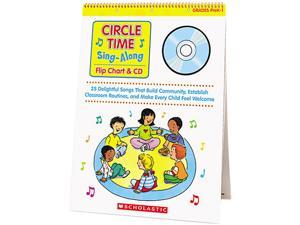 Scholastic 0439635241 Circle Time Sing Along Flip Chart with CD, Grades PreK-1, 26 Pages