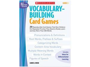 Scholastic 0439578167 Vocabulary Building Card Games, Grade Five, 80 pages