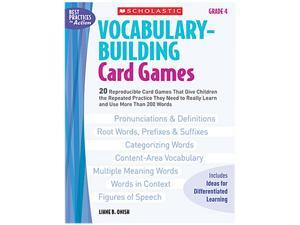 Scholastic 0439573149 Vocabulary Building Card Games, Grade Four, 80 pages