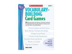 Vocabulary Building Card Games, Grade Three, 80 pages