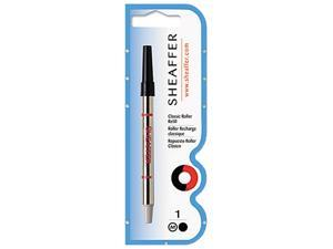 Sheaffer 97335 Classic Roller Ball Refills, Black, Medium Point