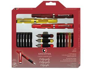 Sheaffer 73404 Calligraphy Pen Set, Maxi Kit, 4 Nibs