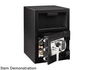 Sentry Safe DH-109E Depository Safe, 1.3 ft3, 14w x 15-3/5d x 24h, Black