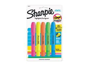 Sharpie 1803277 Gel Highlighter, Assorted Colors, 5 per Pack