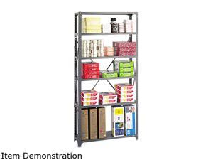 Safco 6268 Commercial Steel Shelving Unit, 6 Shelves, 36w x 12d x 75h, Dark Gray