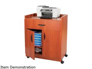 Safco 1852CY Mobile Laminate Machine Stand w/Pullout Drawer, 30w x 20-1/2d x 36-1/4h, Cherry