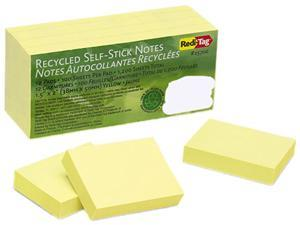 Redi-Tag 25700 100% Recycled Notes, 1 1/2 x 2, Yellow, 12 100-Sheet Pads/Pack