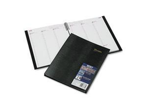Rediform CB950C-BLK CoilPRO Weekly Planner, Ruled, 8-1/2 x 11, Black