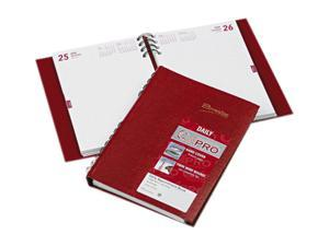 Rediform CB389C-RED CoilPRO Daily Planner, Ruled 1 Day/Page, 5-3/4 x 8-1/4, Red