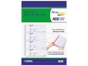 Rediform 8L806R Money Receipt Book, 2-3/4 x 7, Carbonless Duplicate, 200 Sets