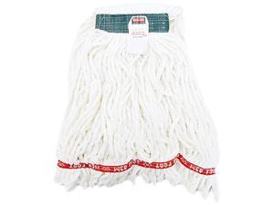 Rubbermaid Commercial A21206WHI Web Foot Shrinkless Looped-End Wet Mop Head, Cotton/Synthetic, Medium, White