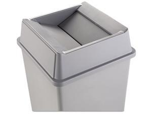 Rubbermaid Commercial 2664GRAY Swing Top Lid for Square Waste Container, Plastic, Gray