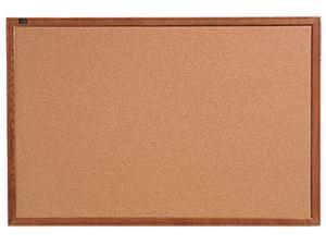 Quartet 85223 Cork Bulletin Board, 36 x 24, Oak Frame
