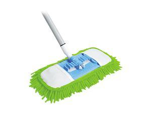 "Microfiber Dust Mop, 48"" Steel Handle, Green, Each"