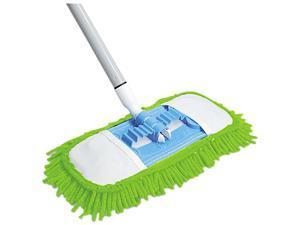 """Quickie 060 Microfiber Dust Mop, 48"""" Steel Handle, Green, Each"""