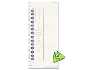 Pyramid 3510010 Time Card for Models 3500 and 3700, Weekly, 4 x 9, 100/Pack
