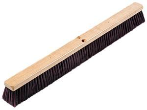 "Proline Brush 20336 Floor Brush Head, 3 1/4"" Maroon Stiff Polypropylene, 36"""