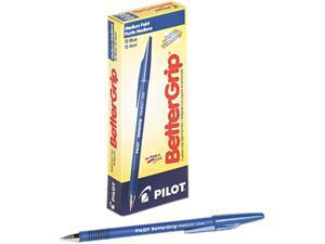Pilot 30051 BetterGrip Ballpoint Stick Pen, Blue Ink, Medium, Dozen