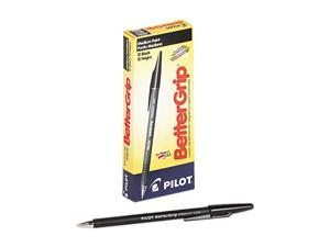 Pilot 30050 BetterGrip Ballpoint Stick Pen, Black Ink, Medium, Dozen