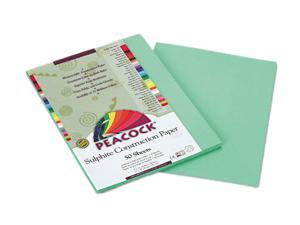 Pacon P8109 Peacock Sulphite Construction Paper, 76 lbs, 9 x 12, Light Green, 50 Sheets/Pack
