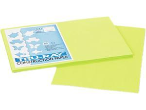 Pacon 103425 Tru-Ray Construction Paper, 76 lbs., 12 x 18, Brilliant Lime, 50 Sheets/Pack