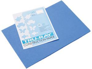 Pacon 103054 Tru-Ray Construction Paper, 76 lbs., 12 x 18, Blue, 50 Sheets/Pack