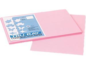 Pacon 103044 Tru-Ray Construction Paper, 76 lbs., 12 x 18, Pink, 50 Sheets/Pack
