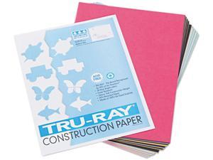 Pacon 103031 Tru-Ray Construction Paper, 76 lbs., 9 x 12, Assorted, 50 Sheets/Pack